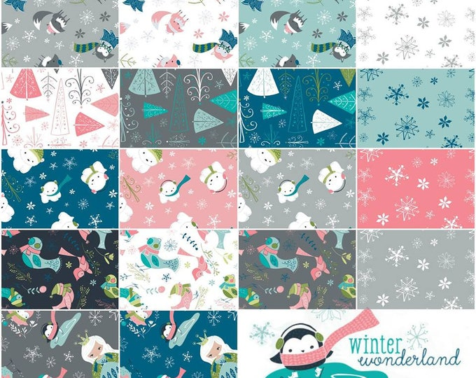 Camelot Fabrics - Winter Wonderland designed by Heather Rosas,  18 Fat Quarters Cotton Woven Fabric - SALE !!!  Was 35 - Now 30