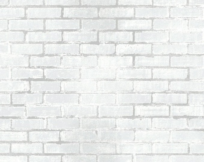 Windham Fabrics - Unstoppable by Whistler Studios - White Painted Brick 51504-2 - Cotton Woven Fabric