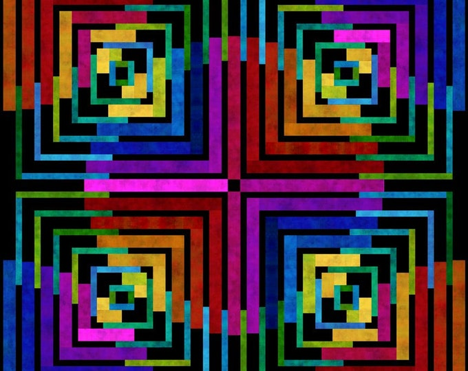 Quilt Kit - In the Beginning Fabrics - Dit Dot Evolution by Jason Yenter - Antelope Canyon Quilt Kit