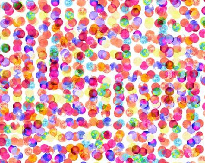 Punch dots Digitally Printed cotton fabric Fluttering Geometric by Hoffman Fabrics