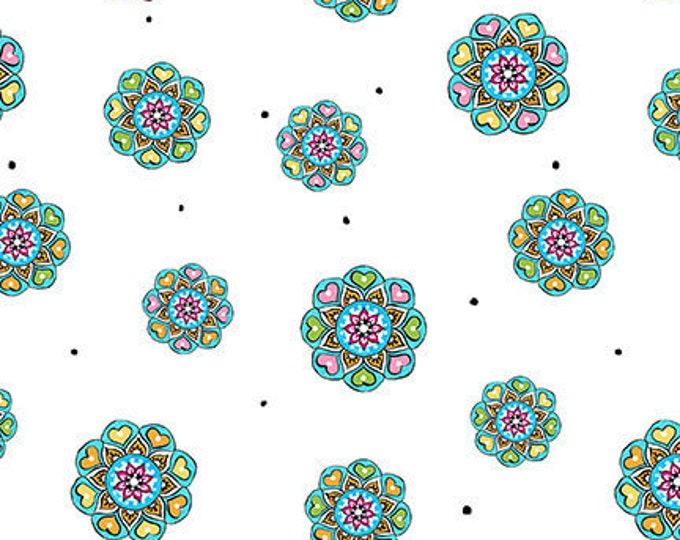 Blank Quilting - Mandala Tango - Tossed Mini Mandalas #9650-01 Cotton Woven Fabric