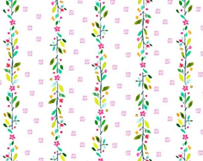 Dear Stella - Spring Theory - White Flower Stripe   -  ST-DAW1094 Cotton Woven Fabrics