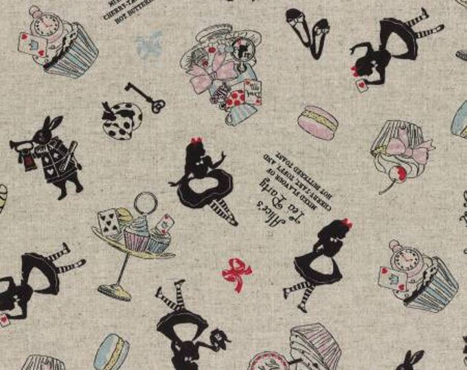 A Girl's Story, Alice in Wonderland 40824L-11 Tossed print on Natural By Lecien Fabrics