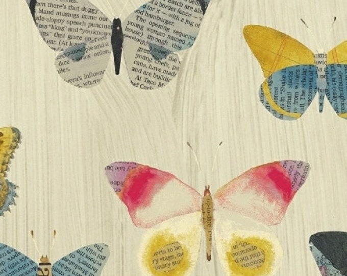 Carrie Bloomston - Wonder - Butterflies on White - Cotton Woven Fabric - Windham 50515-1