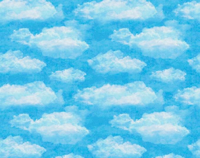 Quilting Treasures - Faith by Dan Morris - Blue Clouds 26877Q Cotton Woven Fabric