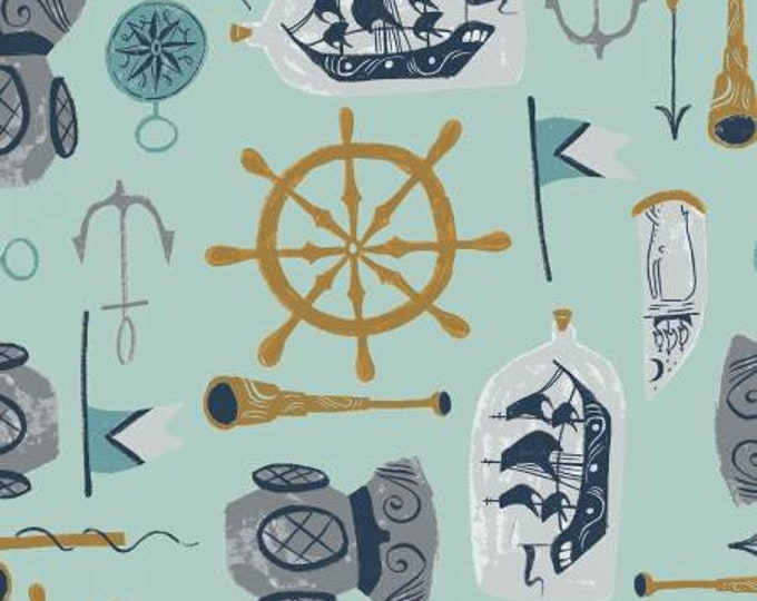 Dear Stella - Aweigh North - Harbor Sea Supplies - Rae Ritchie - Cotton Woven Fabric