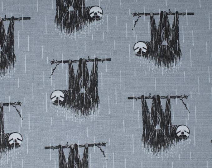 Birch Organic Fabrics - Charley Harper Barkcloth - Sloth - Organic Cotton Barkcloth