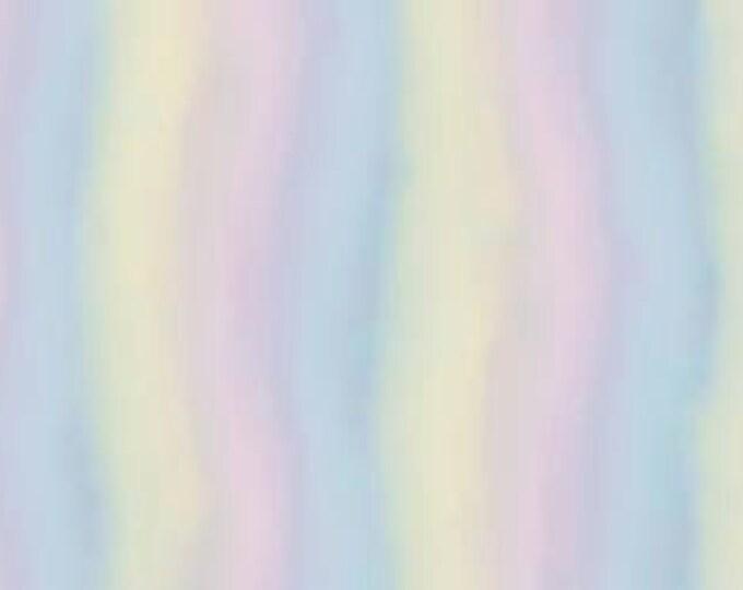 Santoro's Gorjuss - Rainbow Dream, Light Watercolor Stripe Cotton Woven