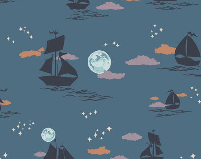 Art Gallery Fabrics - Enchanted Voyage by Maureen Cracknell - Offshore Dream Shadow ENV-61785 - Cotton Woven Fabric
