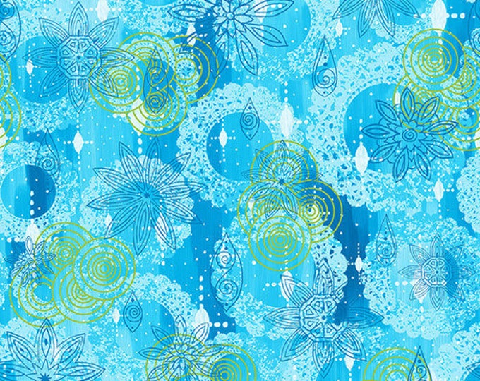 Blank Quilting - Mandala Tango - Blue Texture #9655-70 Cotton Woven Fabric