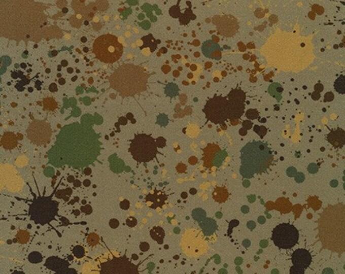 Robert Kaufman Fabrics - Splatter - Khaki - Cotton Woven Fabric