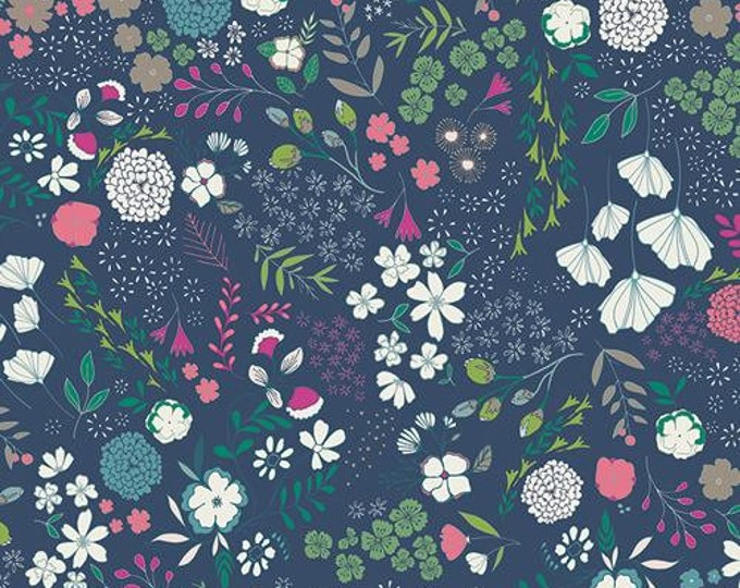 Art Gallery Fabric - Flower Child - Blooming Ground - Luscious - Cotton Woven