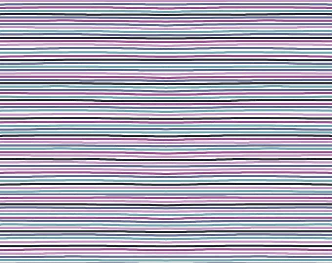 "Stof Fabrics - Avalana Knits - Cool Mini-Stripe 19-064 63"" wide Cotton/Spandex 4-way Knit"