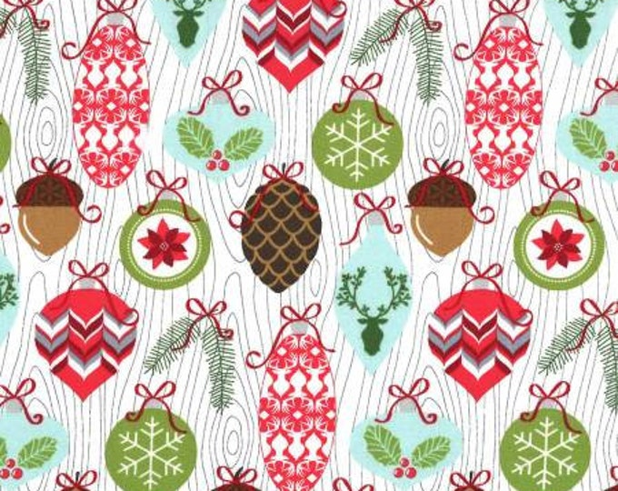 Rustique Winter, Snow Trimmings cotton woven fabric by Michael Miller Fabrics