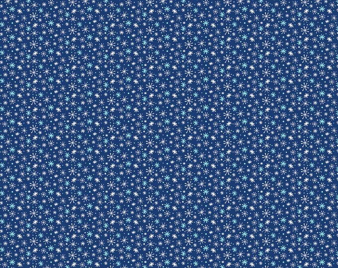 Northcott - Yeti For Winter - Snowflakes - Blue - Cotton Flannel Fabric - F22211-49