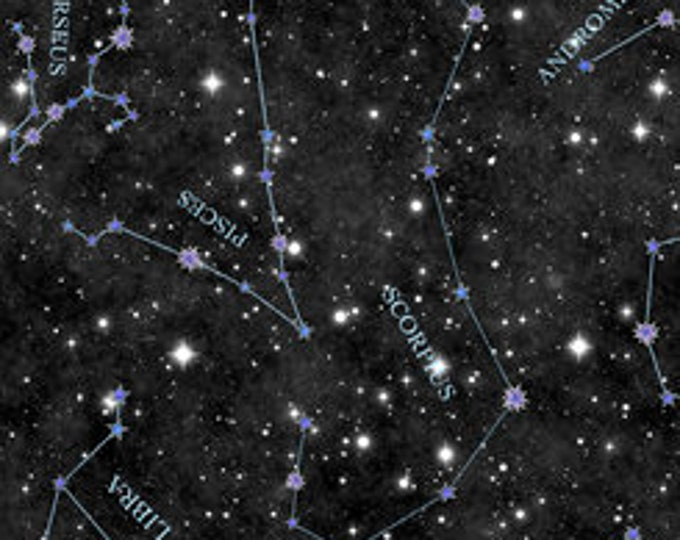 Quilting Treasures Fabrics - Intergalactic by Dan Morris - Constellations - Black - Cotton Woven Fabric