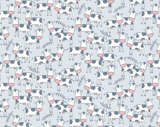 Dear Stella - Deja Moo -Cows on Cloud - Cotton Woven Fabric