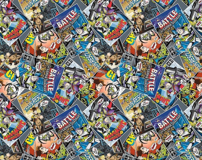 Springs Creative - Licensed Disney Toy Story Comic Cotton Woven Fabric