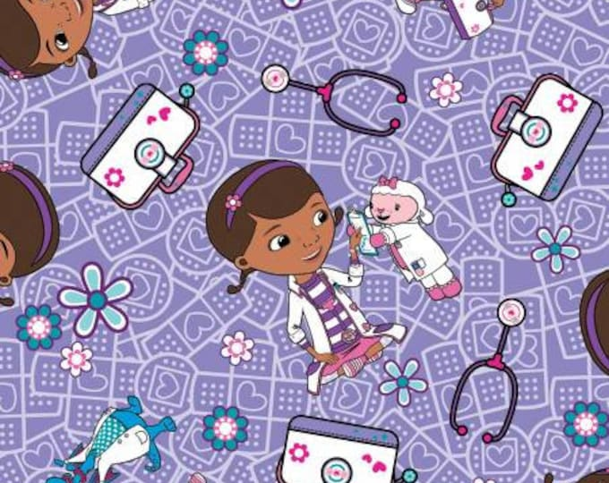 Disney - Doc McStuffins - Hospital Helpers - Cotton Woven Fabric -Springs Creative