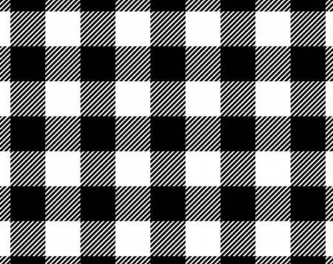 David Textiles - Black/White Buffalo Plaid Flannel - 100% Cotton Flannel