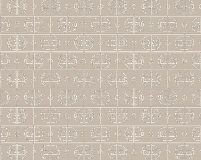 Riley Blake Fabrics - Varsity - Basketball on Off White - Cotton Woven Fabric