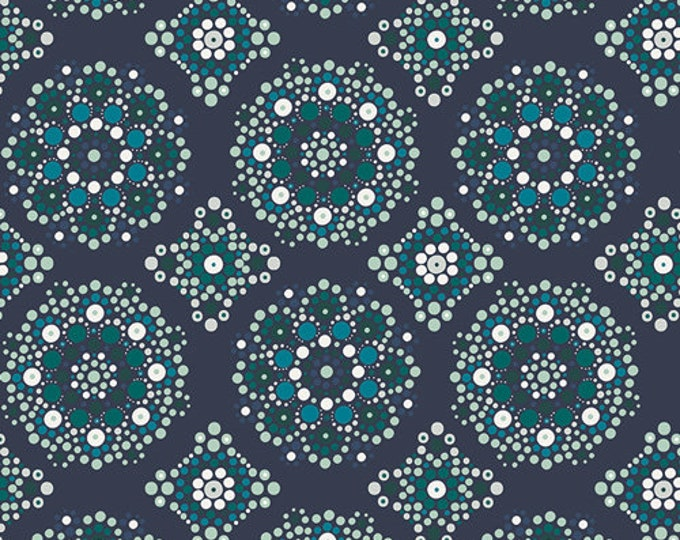 CLEARANCE - Art Gallery Fabric - Loved to Pieces -Midnight Mandala Drops - Gentle - Cotton Woven - Priced per Yard