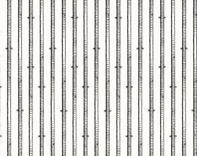 Quilting Treasures - Queen of We'en by J. Wecker Frisch -  Black and Ecru Stripe cotton woven  Fabric