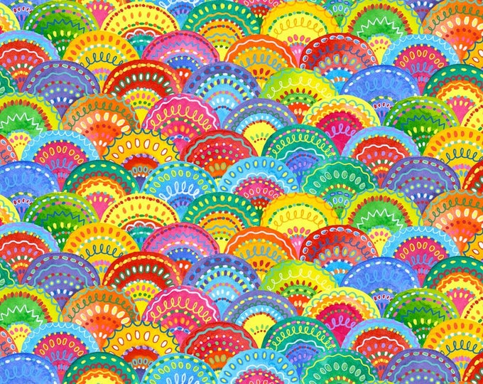 Blank Quilting - Loca LInda by Jackie Decker - Scallops  9396-44 Cotton Woven Fabric