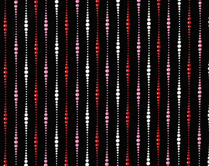 Michael Miller Fabrics - Boudoir by Gertie - Black Baubles #DC8502-BLAC Cotton Woven Fabric
