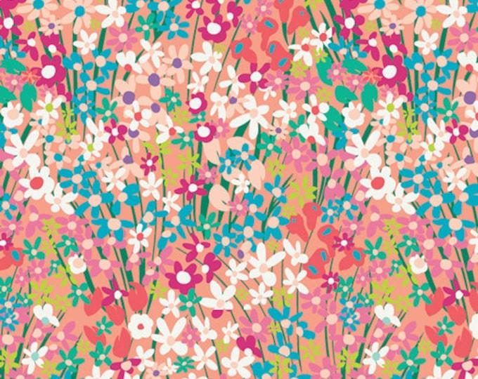 Art Gallery Fabrics - West Palm - Seaside Garden Coral   #WPA-64503 Cotton Woven Fabric