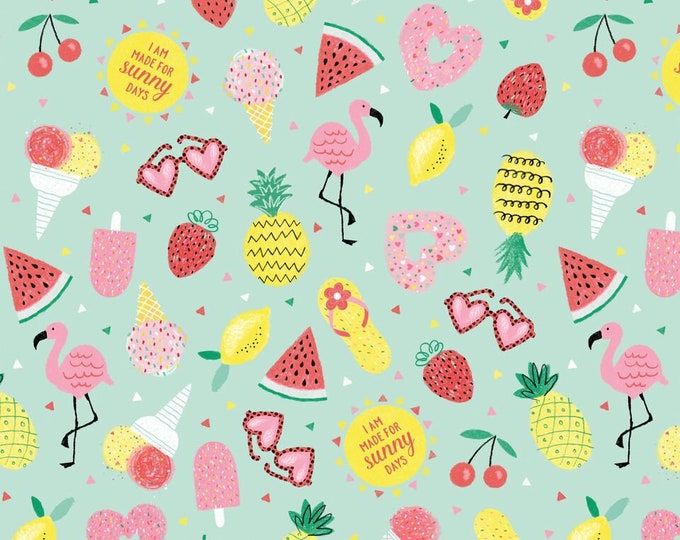 Summer Motif Tossed 4482-66 Cotton Woven Fabric - Summerlicious by Lucie Crovatto