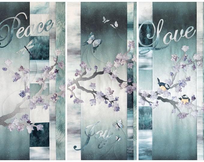 Quilt Kit - Hoffman Fabrics - Peace Joy Love Triptych Kit - MRPJL-541-Peace