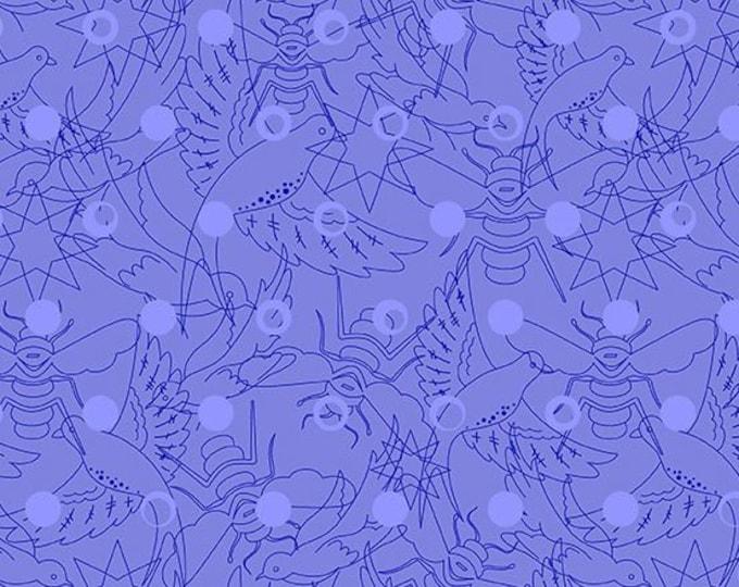 Andover Fabrics - Sun Print 2017 by Alison Glass -   A-8484 B Link design in Hydrangea Cotton Woven Fabric