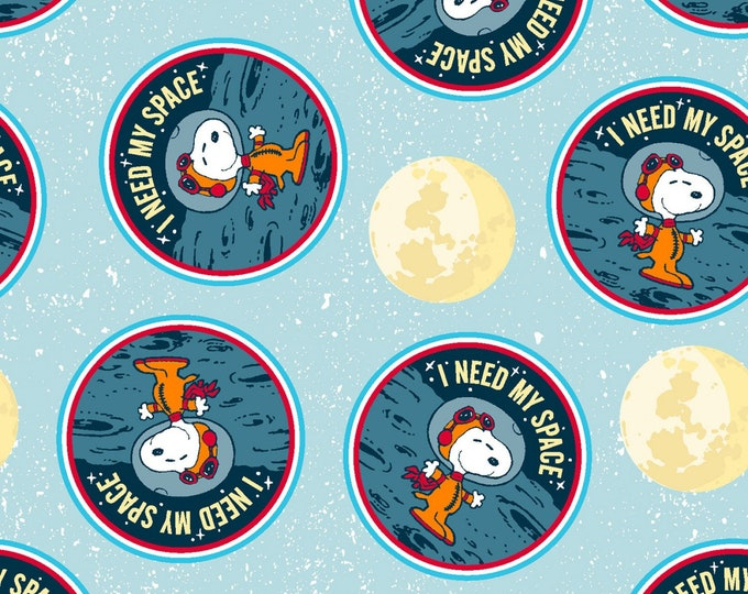 Springs Creative - Licensed Peanuts - Snoopy Needs Space # 694709130715 - Licensed Cotton Woven Fabric
