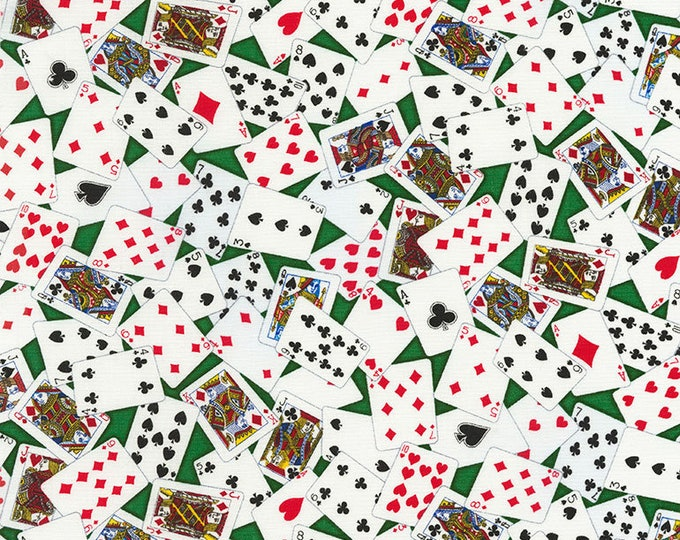 Timeless Treasures - Tossed Cards Cotton Woven Fabric
