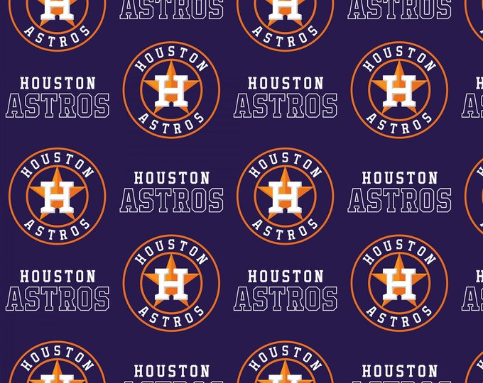 Fabric Traditions - Licensed MLB - Houston Astros Major League Baseball Cotton Woven Fabric 60 Inches wide