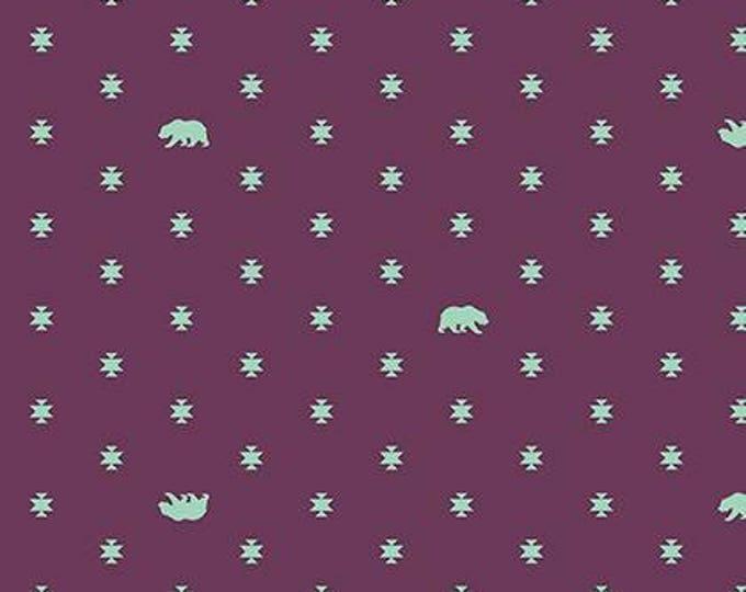 Tula Pink - Spirit Animal - Bear Hug Lunar Purple Cotton Woven Fabric