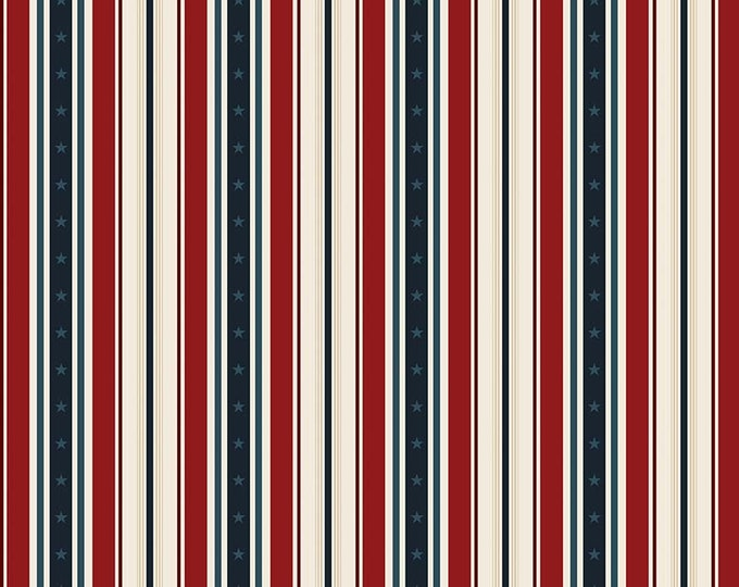 Penny Rose Fabrics - American Heritage by Dani Mogstad -  Stripe Red C8034 Cotton Woven Fabric