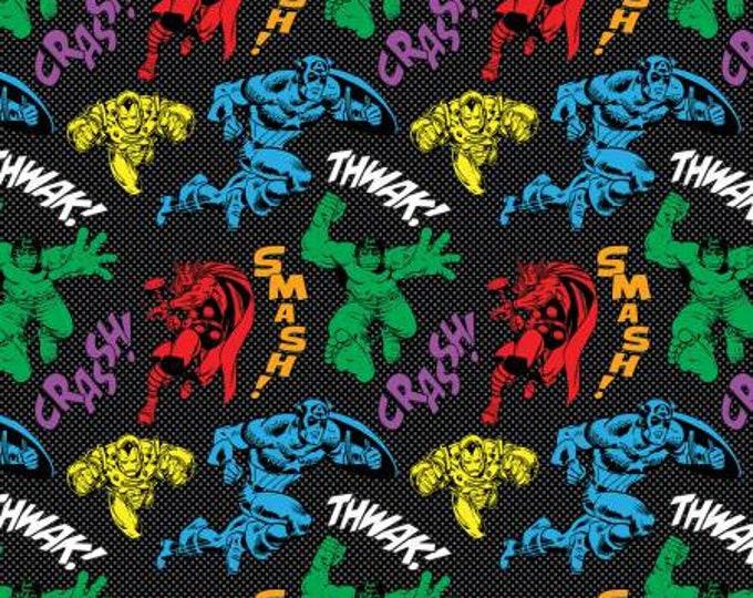 Marvel - Avengers Unity - Black - Cotton Woven Fabric