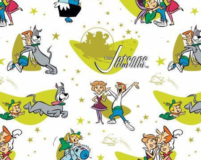 Family Love on White, The Jetsons by Camelot Fabric