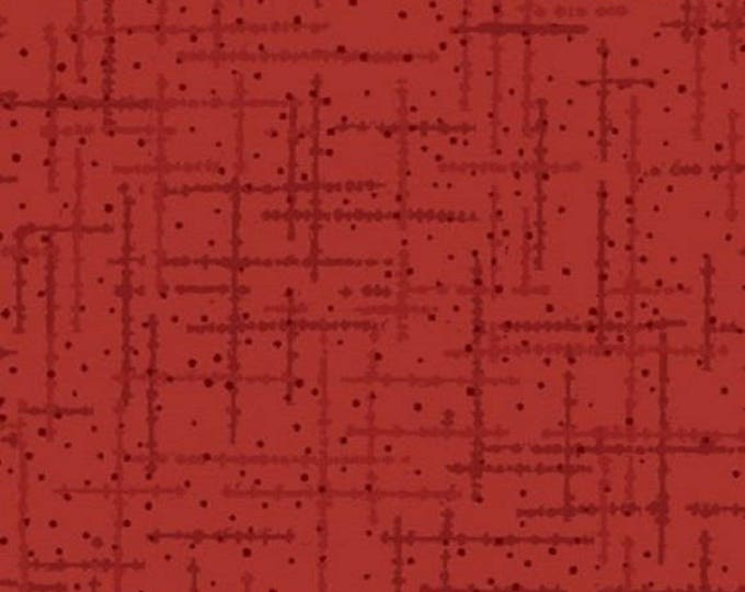 Matrix Red crosshatch cotton woven fabric by Quilting Treasures
