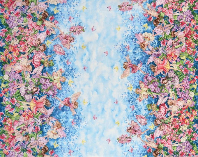 Michael Miller - Fairy Whispers Metallic Border Print- Cotton Woven