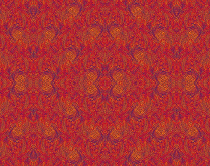 Andover Fabrics - The  Golden Hour by SAQA -  Ominous Red  cotton woven fabric