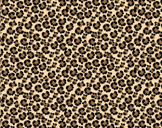 Henry Glass Fabrics - Shoe Love is True Love - Tan Leopard Skin # 1713-046 - Cotton Woven Fabric