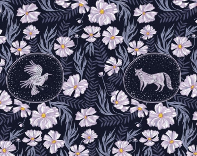 Dear Stella - Ghostwood by Rae Ritchie - Forest Vignette on Astral Stella-SRR1336-Astral - Cotton Woven Fabric
