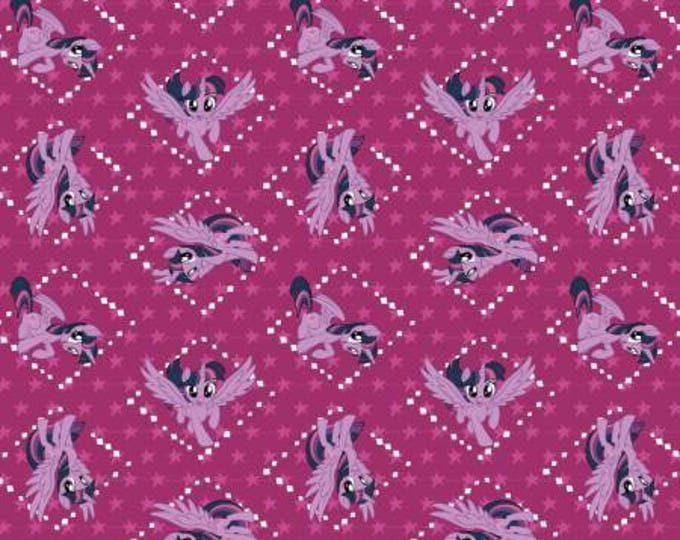 Fuchsia Twilight Sparkle, My Little Pony Digital Cotton Woven
