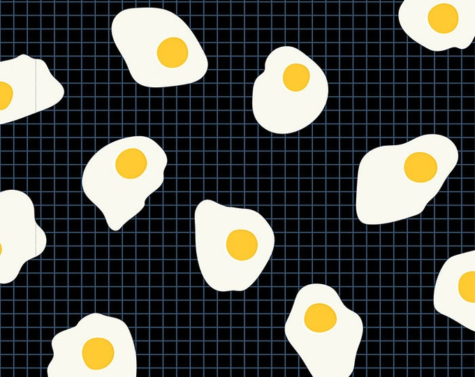 Moda Fabrics - Darlings by Ruby Star Society - Fried Eggs Black RS5018 22 - Cotton Woven Fabric