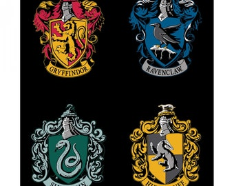 """Camelot Fabric - Licensed Wizarding World - Black House Crests 36""""   Panel Harry Potter # 23800156P 01 Cotton Woven Fabric"""