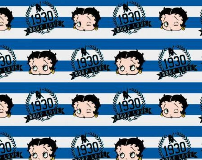 CLEARANCE -      Royal Blue Betty Stripe, Betty Boop, Camelot Design Studio - King Features