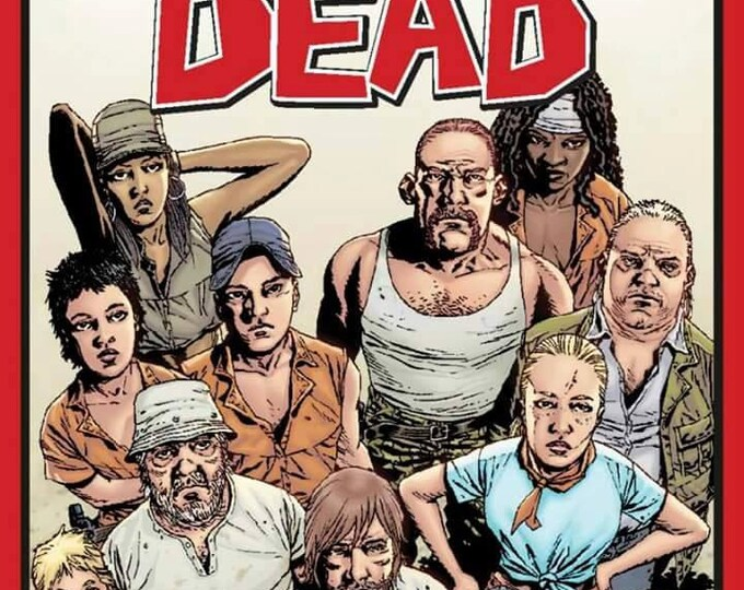SALE !!! The Walking Dead Character Cotton Panel 36 inches wide 43 inches in length